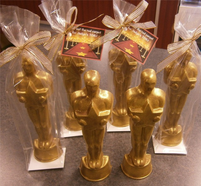 chocolate hollywood award statue oscar style